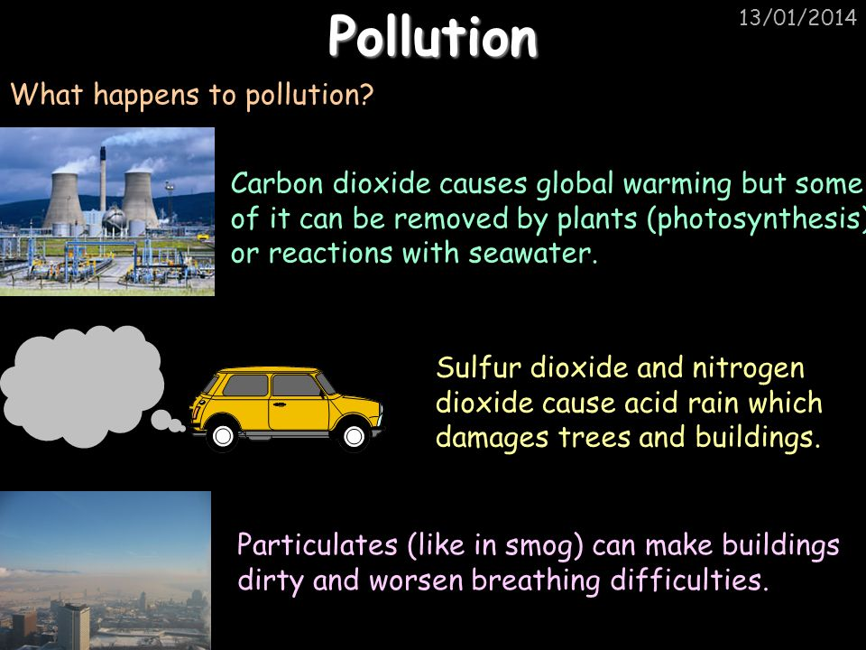 Pollution What happens to pollution