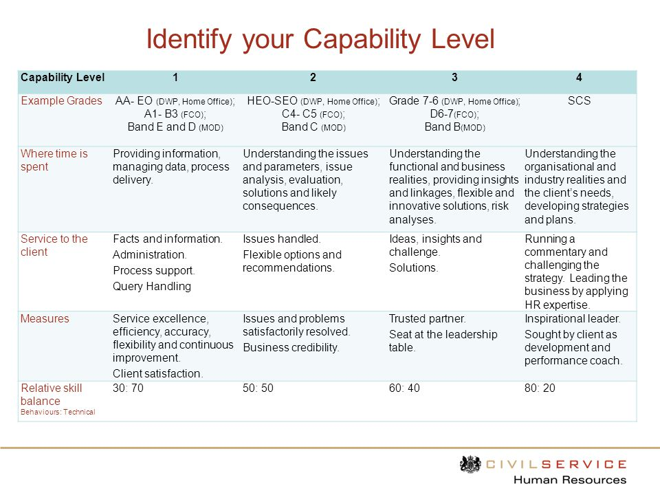 Identify your Capability Level