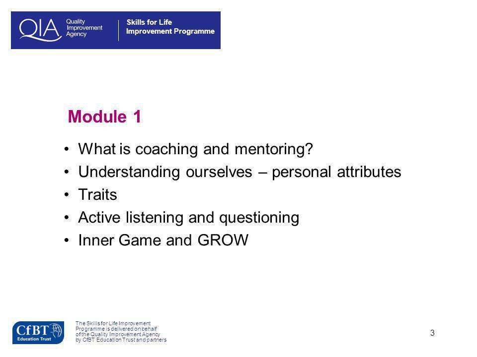 Module 1 What is coaching and mentoring