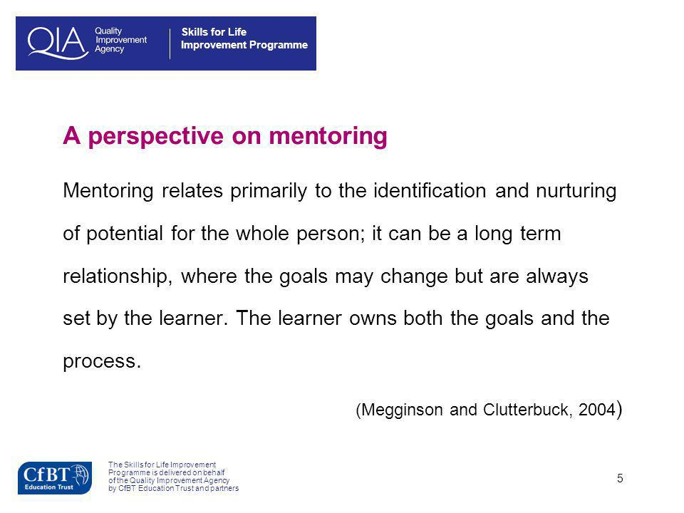 A perspective on mentoring