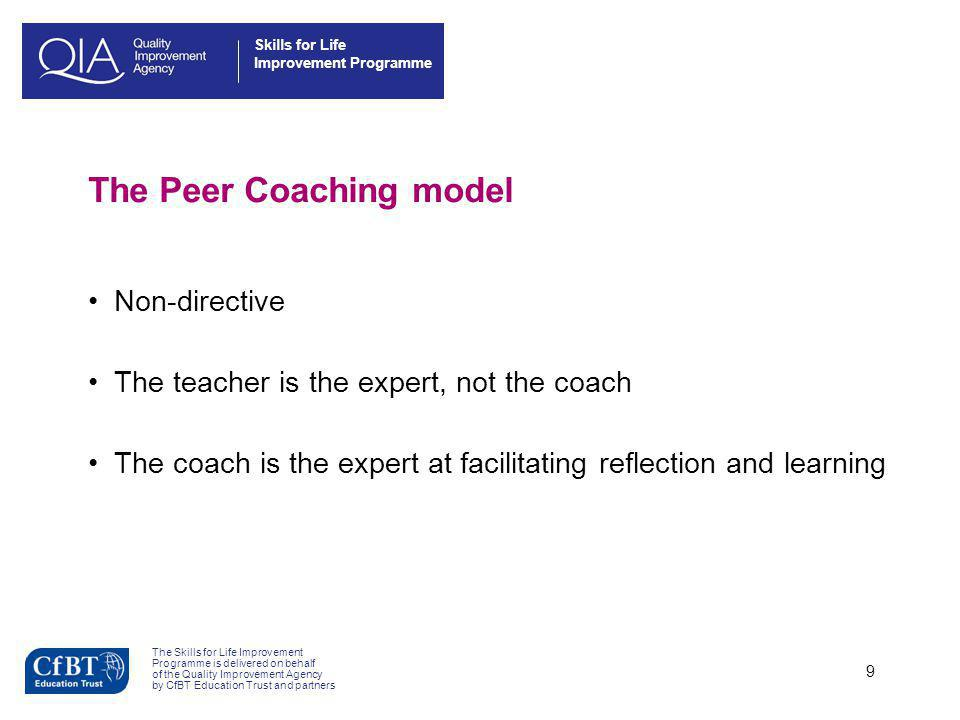 The Peer Coaching model