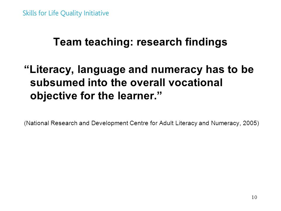 Team teaching: research findings