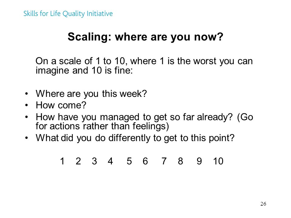 Scaling: where are you now