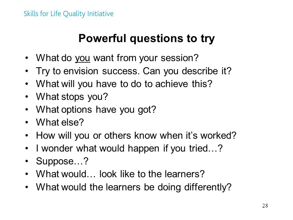 Powerful questions to try