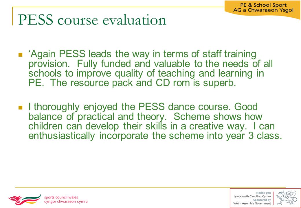 PESS course evaluation