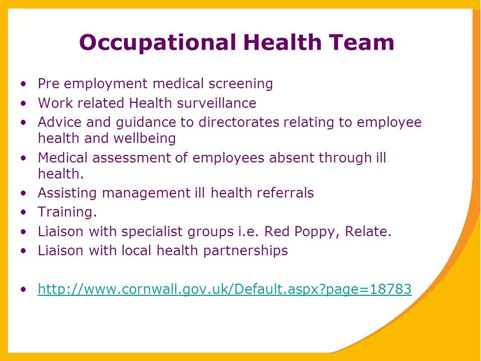 Occupational Health Team