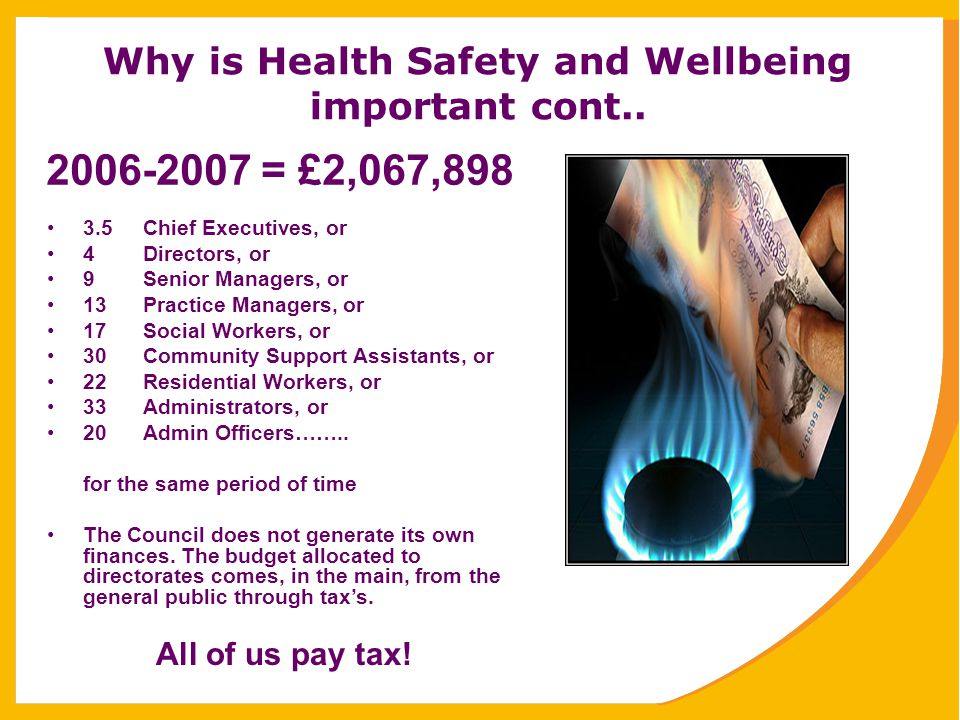 Why is Health Safety and Wellbeing important cont..