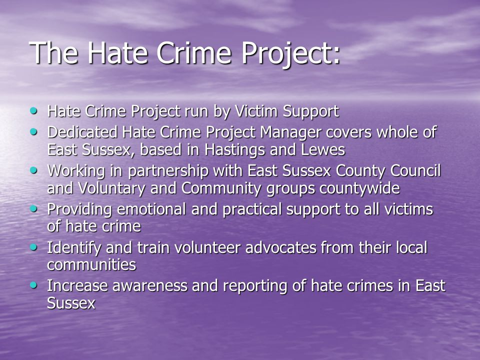 The Hate Crime Project: