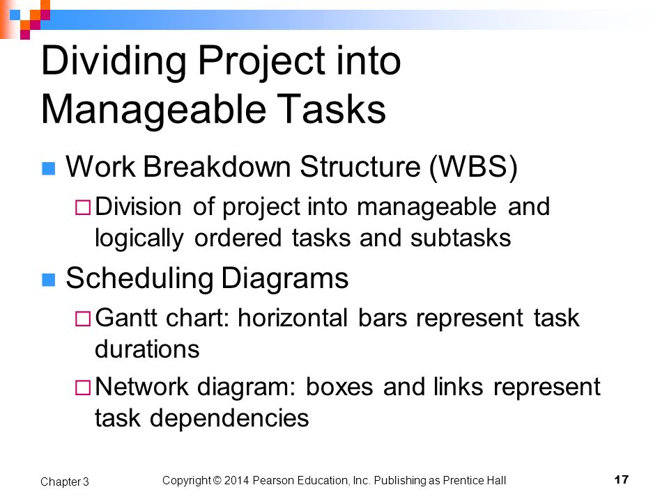 Dividing Project into Manageable Tasks
