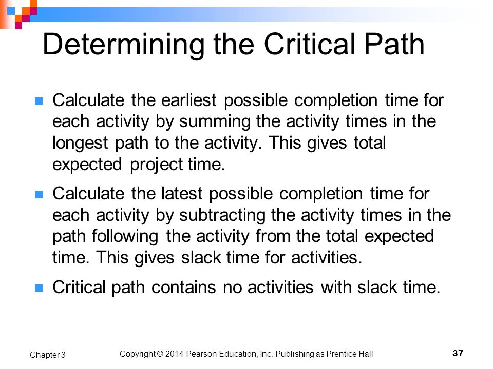 Determining the Critical Path