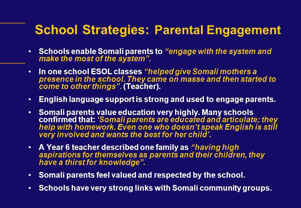 School Strategies: Parental Engagement