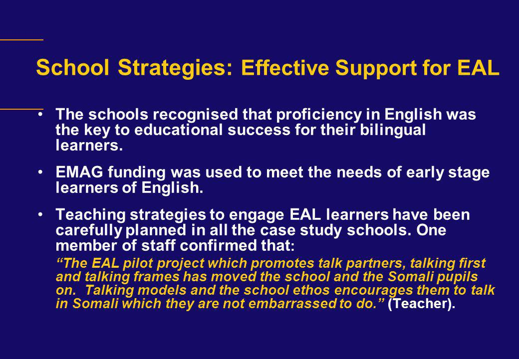 School Strategies: Effective Support for EAL