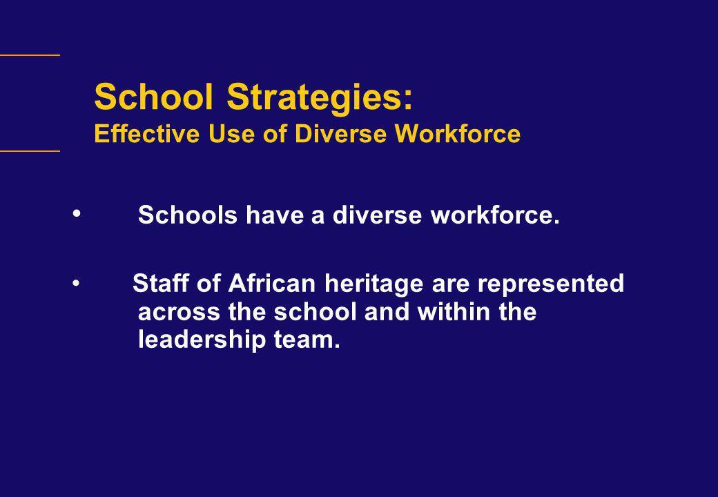 School Strategies: Effective Use of Diverse Workforce