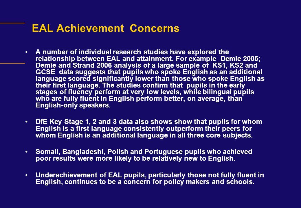 EAL Achievement Concerns