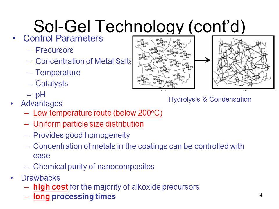 Sol-Gel Technology (cont'd)