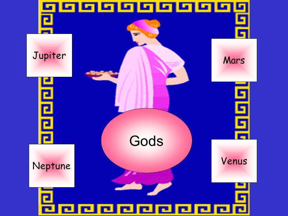 Jupiter Mars Gods Venus Neptune