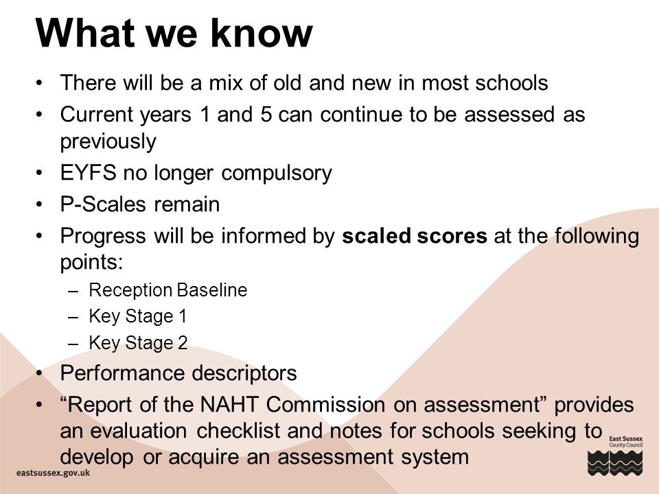 What we know There will be a mix of old and new in most schools