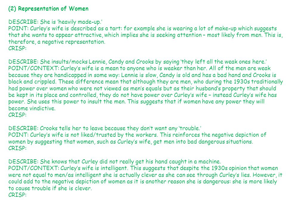 (2) Representation of Women