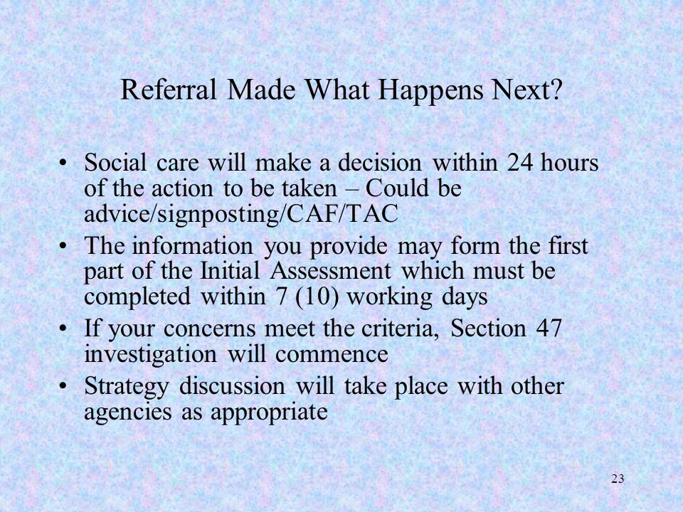 Referral Made What Happens Next