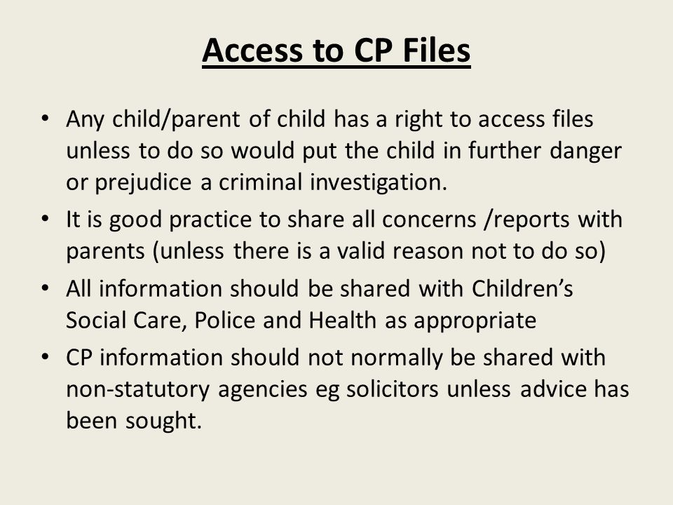 Access to CP Files