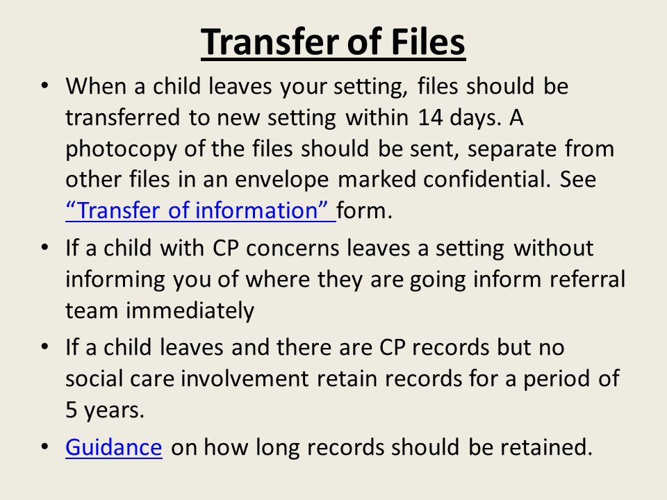 Transfer of Files