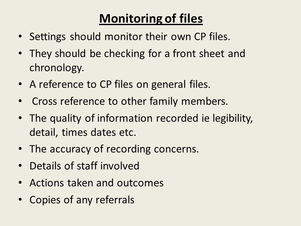 Monitoring of files Settings should monitor their own CP files.