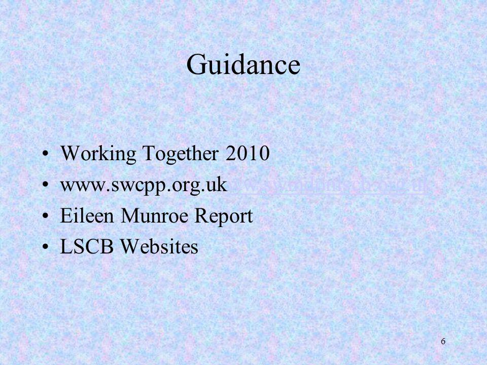 Guidance Working Together 2010 www.swcpp.org.ukww.swindonlscb.org.uk