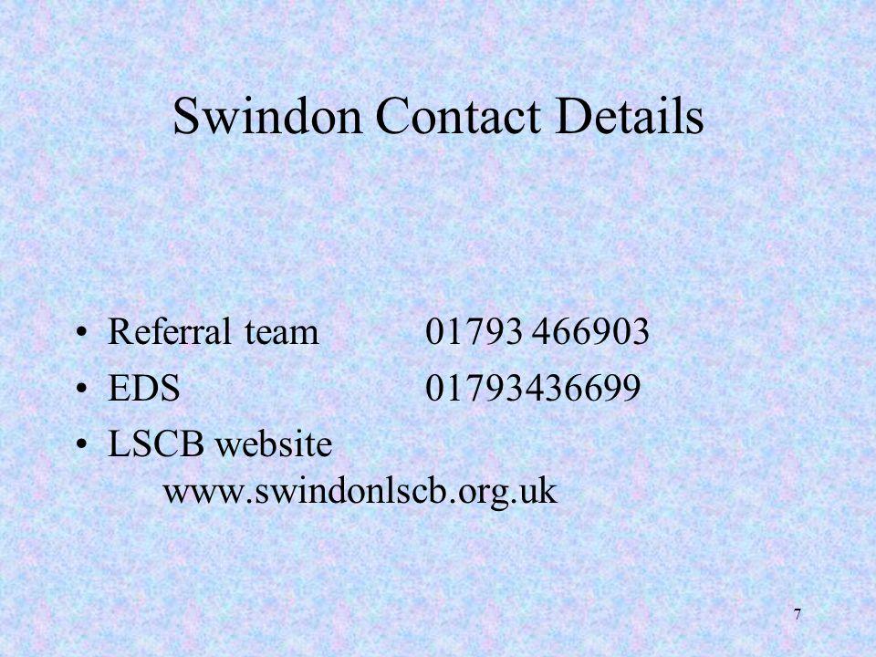 Swindon Contact Details