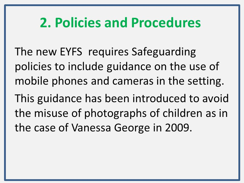 2. Policies and Procedures
