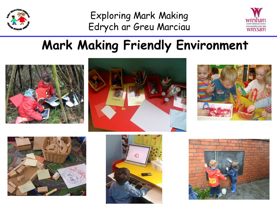 Exploring Mark Making Edrych ar Greu Marciau