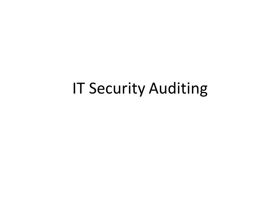 IT Security Auditing