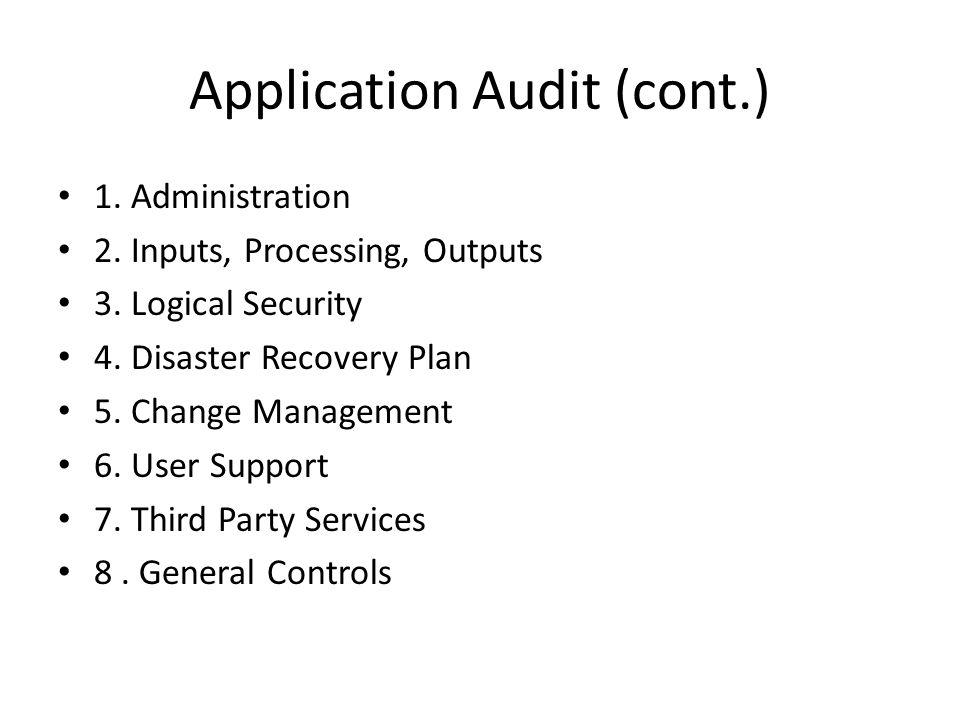 Application Audit (cont.)