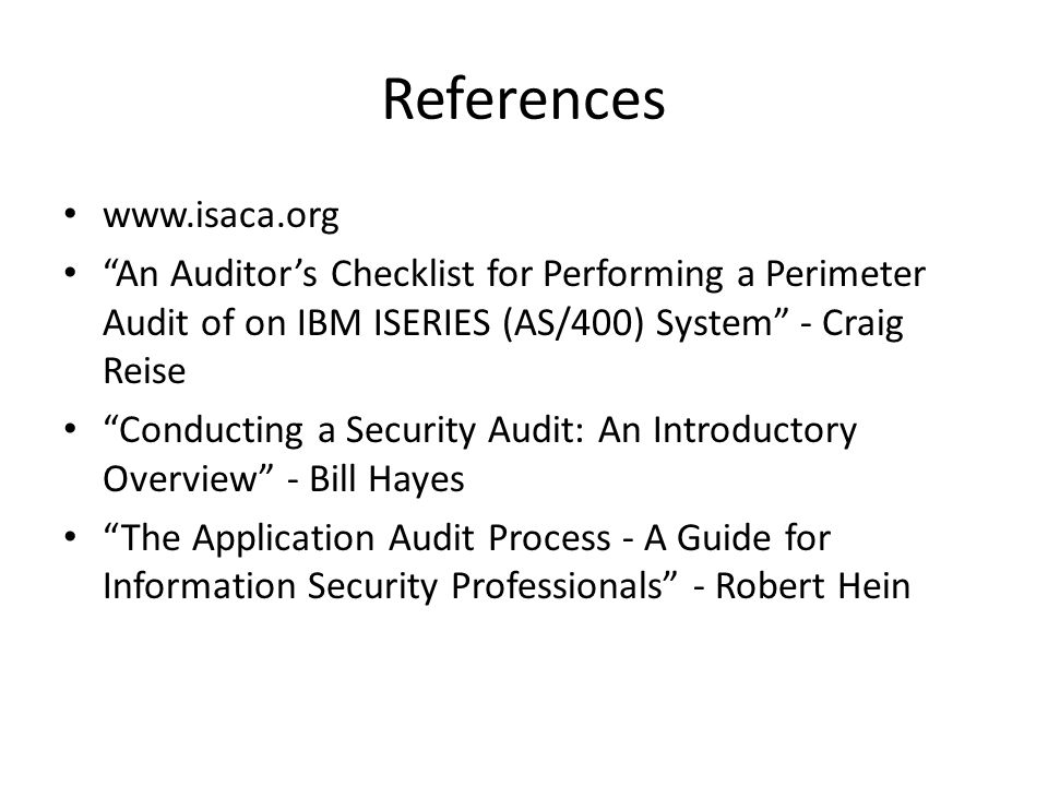 References www.isaca.org