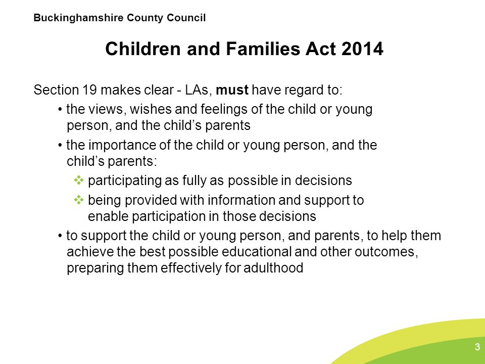 Children and Families Act 2014