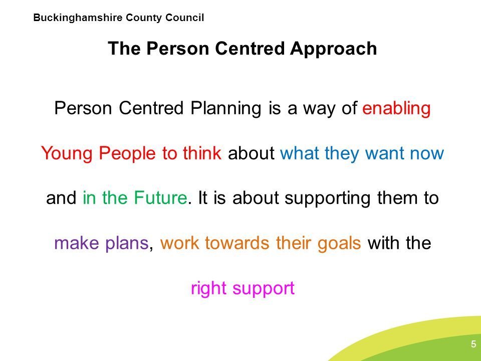 The Person Centred Approach