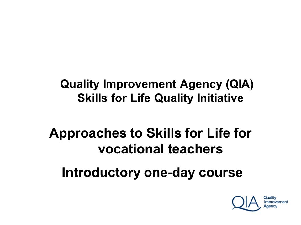 Approaches to Skills for Life for vocational teachers