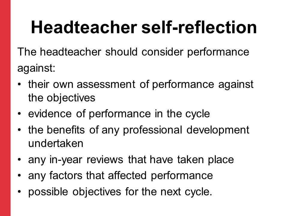 Headteacher self-reflection