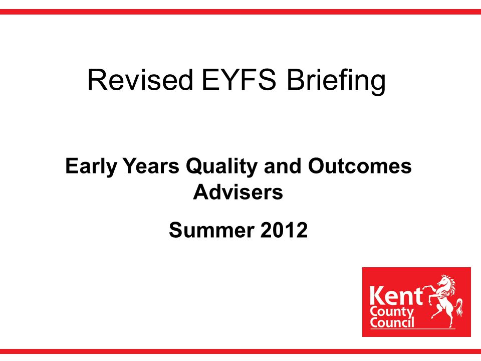 Early Years Quality and Outcomes Advisers