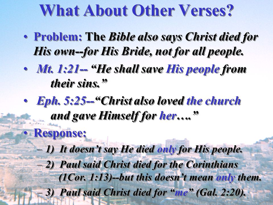 What About Other Verses