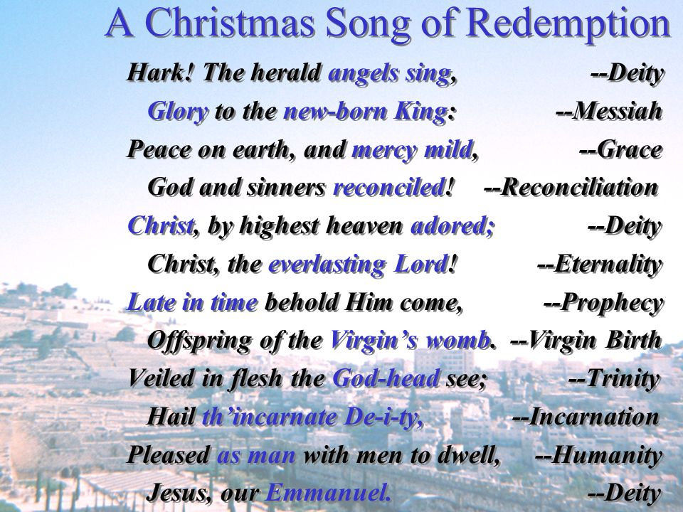 A Christmas Song of Redemption