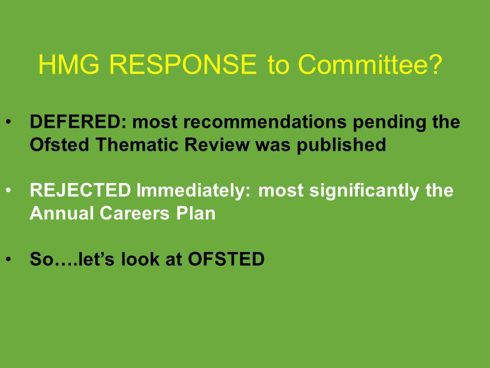 HMG RESPONSE to Committee