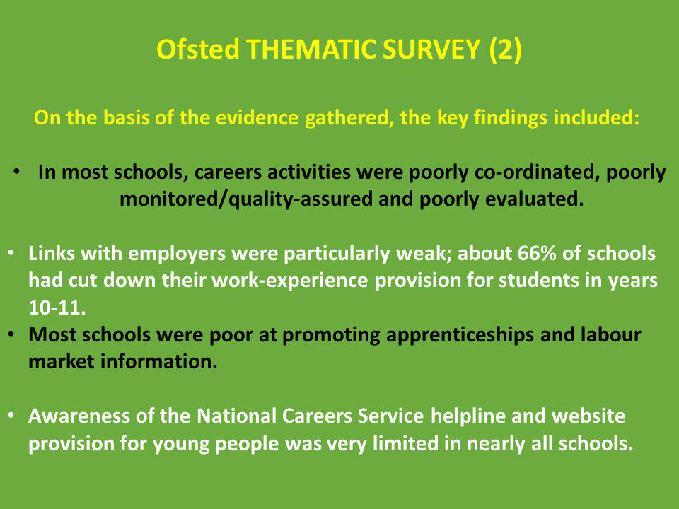 On the basis of the evidence gathered, the key findings included: