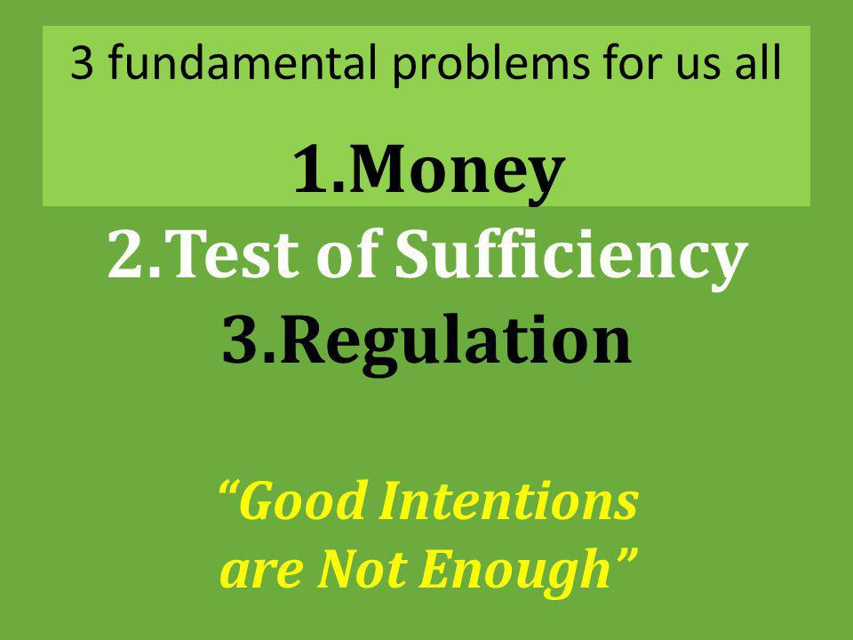 3 fundamental problems for us all