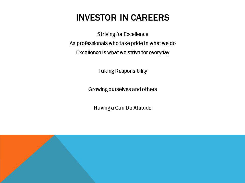 INVESTOR IN CAREERS