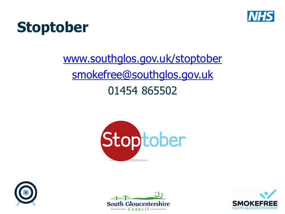 Stoptober www.southglos.gov.uk/stoptober smokefree@southglos.gov.uk