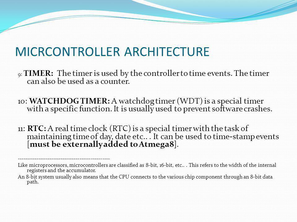 MICRCONTROLLER ARCHITECTURE