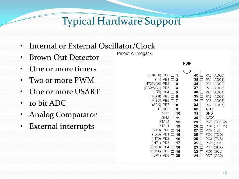 Typical Hardware Support