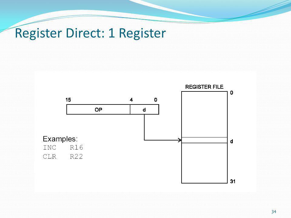 Register Direct: 1 Register