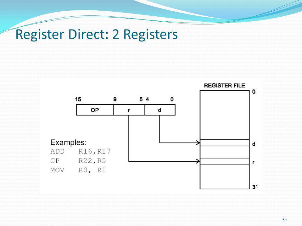 Register Direct: 2 Registers