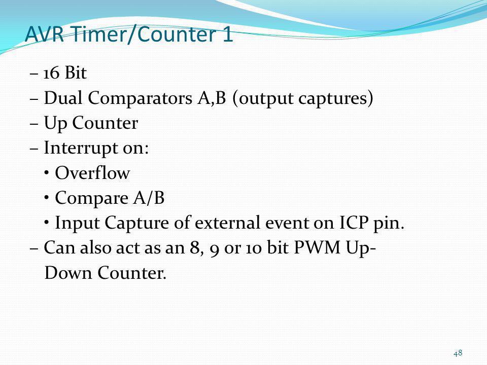 AVR Timer/Counter 1